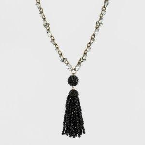 SUGARFIX by BaubleBar Black Bead Tassel Pendant